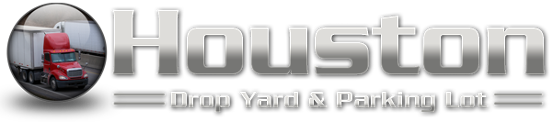Logo, Houston Drop Yard & Secure Tractor Trailer / 18 Wheeler / Big Rig Truck Parking Lot -  Service Area: Serving a Nation of Truckers in the Houston, Dayton, Baytown, Humble, & Missouri (MI), Houston, Texas (TX), Area.